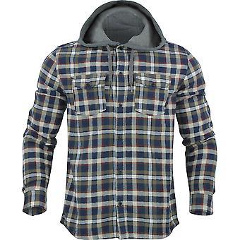 Quiksilver mens Snap upp Långärmad Hooded flanellskjorta-Sky kapten