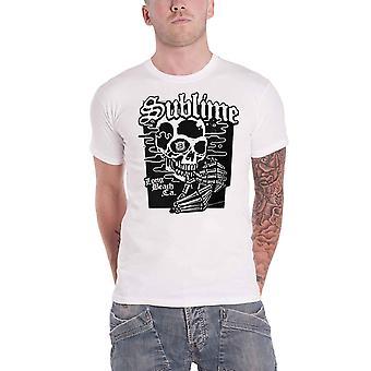 Sublime T Shirt Black Skull Band Logo new Official Mens White