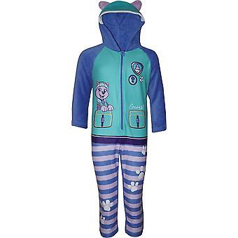 Girls HS2085 Paw Patrol Fleece Hooded Sleepsuits / Onesie Pyjamas