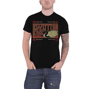 Led Zeppelin T Shirt Zeppelin & Smoke Est 1968 Band Logo new Official Mens Black
