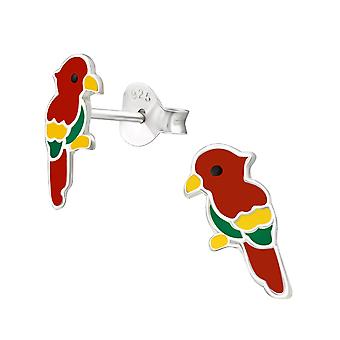 Parrot - 925 Sterling Silver Colourful Ear Studs - W37109X