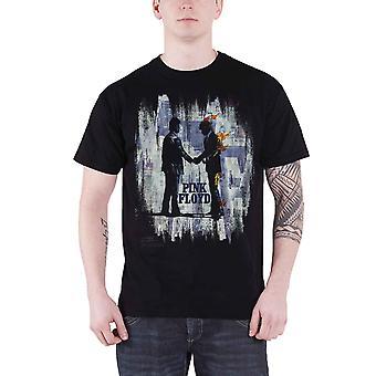 Pink Floyd T Shirt önskar du var här målning Splatter officiella Mens nya svarta