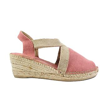 Toni Pons Breda-V Blush Pink Textile Womens Pull On Espadrille Sandals