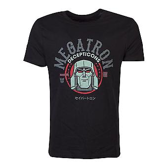 Hasbro Transformers Decepticons Megatron T-Shirt Male Medium Black TS046217HSB-M