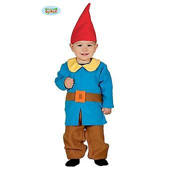 Guirca–Kostüm Zwerg Baby Gartenzwerg Wichtel  Kinderkostüm