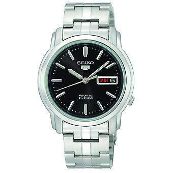 Seiko 5 automatische zwarte wijzerplaat RVS mannen horloge SNKK71K1