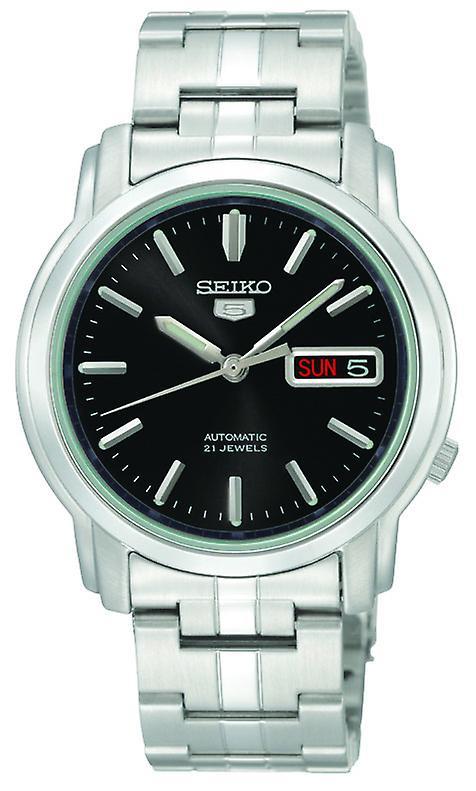 Seiko 5 Automatic Black Dial Stainless Steel Men's Watch SNKK71K1