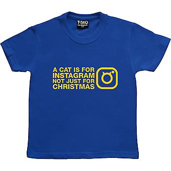 A Cat Is For Instagram, Not Just For Christmas Royal Blue Kids' T-Shirt