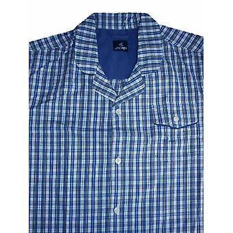 Mens JOCKEY Korte pyjama's nachtkleding pyjama 51359-blauw-Small 34-36