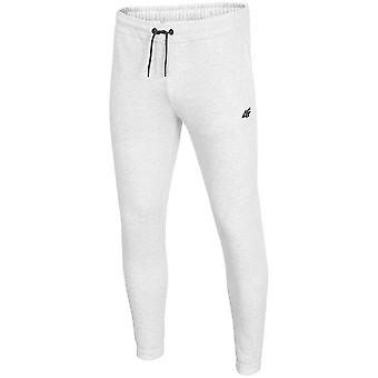 4F SPMD001 H4Z19SPMD001CHODNYJASNYSZARYMELAN universal all year men trousers