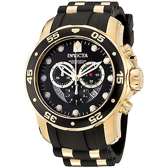 Invicta 6981 Mens Male Two Tone Rubber 48MM Quartz Analog Chronograph Watch