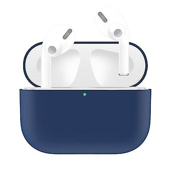For AirPods Pro Case, Silicone Protective Earphone Cover, Dust-proof, Dirt-resistant, Dark Blue
