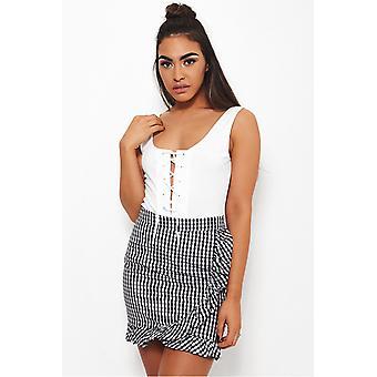 Molly Black Gingham Frill Skirt