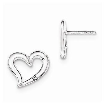 925 שטרלינג CZ מעוקב מדומה יהלום טבעת אהבה לפוסט עגילים תכשיטים מתנות לנשים