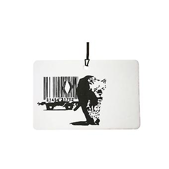 Banksy Barcode Leopard bil luftfräschare