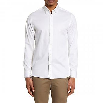 Ted Baker Bobcut LS Plain Satin Shirt White