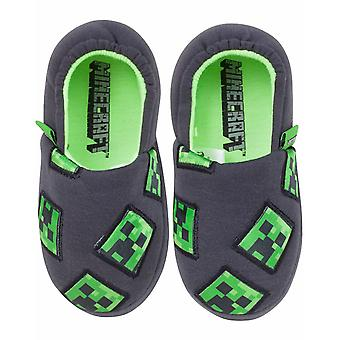 Minecraft Creeper Boys Charcoal Kids Slippers Children's House Shoe