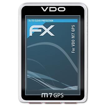 AtFoliX 3x保護フィルム VDO M7 GPS スクリーン プロテクタークリア&フレキシブルと互換性があります。