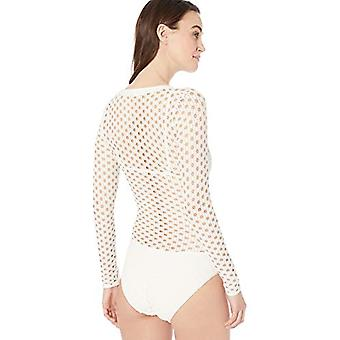 Carmen Marc Valvo Women's Long Sleeve one Piece Swimsuit with Separate Triang...