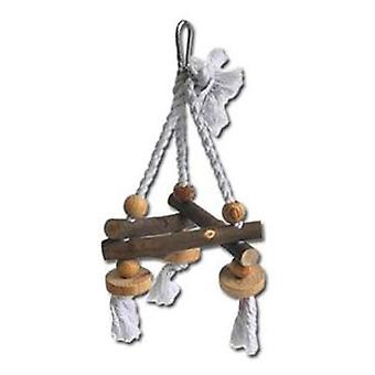 Nayeco Natural birds toy Swing Rope and Wood Small (Birds , Toys)
