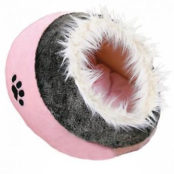 Trixie Cueva Suave Minou, 35X26X41 Cm, Rosa/Gris (Cats , Bedding , Igloos)