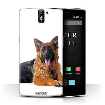 STUFF4/Housse pour OnePlus un/German Shepherd/races de chiens