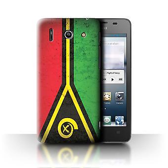 STUFF4 Fall/Abdeckung für Huawei Ascend G510/Vanuatu/Vanuatuan/Oceania Flagge