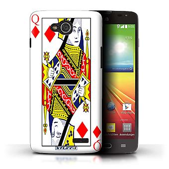 STUFF4 Case/Cover for LG L90 Dual/D410/Queen of Diamonds/Playing Cards
