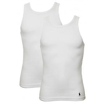 Polo Ralph Lauren 2-Pack Rib Cotton Tanktop Vests, White