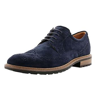 ECCO 640314 Vitrus I - Men's Lace-up Brogue Shoes In Navy Suede