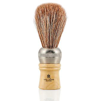 Vie-Long 4312 Extra Brown Horse Hair Professional Szczotka do golenia