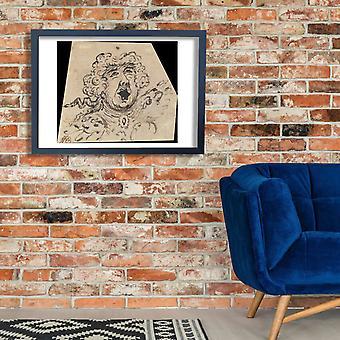 William Hogarth - Grotesque Female Head 4 Poster Print Giclee