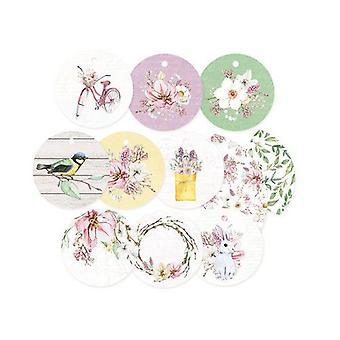 Piatek13 - Decorative tags The Four Seasons - Spring 01 P13-SPR-21