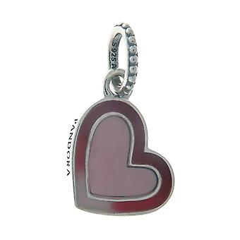 PANDORA Asymmetric Heart of Love Dangle Charm