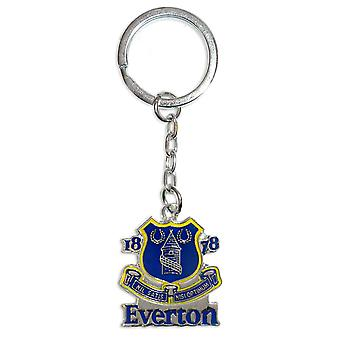 Everton FC Official Football Gift Metal Enamel Club Crest Keyring