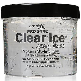 Ampro pro styl clear ice protein styling gel, ultra hold, 6 oz