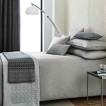 Bahia Bedding And Pillowcase By Peacock Blue Hotel In Gunmetal Grey
