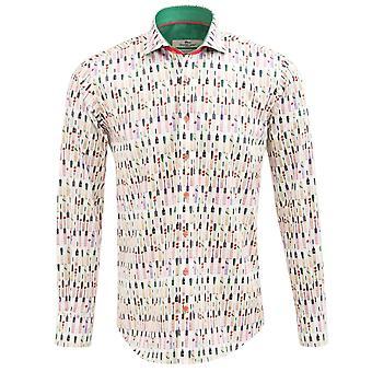 Клаудио Lugli крикет летучей мыши печати Мужская рубашка