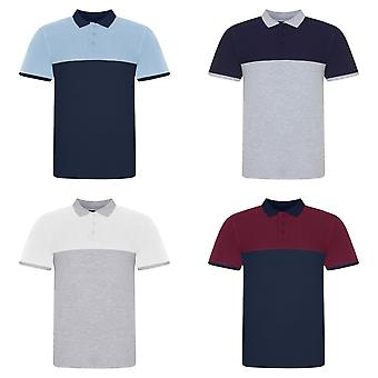AWDis Just Polos Mens Colour Block Polo Shirt