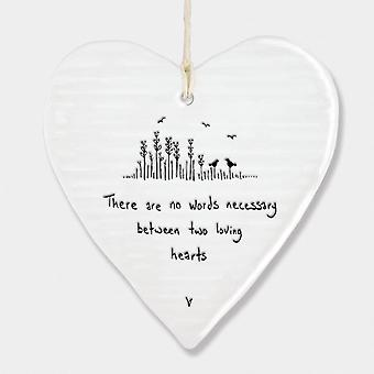 East of India Wobbly Heart There are no words - Two loving hearts Gift