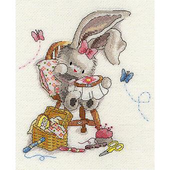 Bothy Threads Bebunni Cross Stitch Kit - Genaaid met liefde