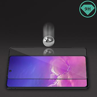 Screen protector Galaxy S10 Lite Anti-glare Tempered Glass Shockproof Black