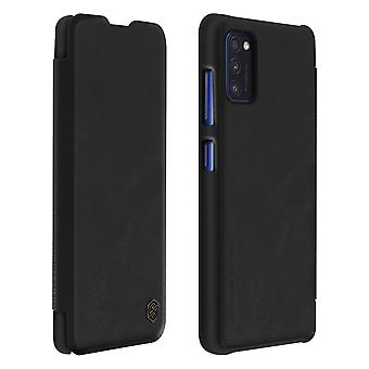 Protective Cover Samsung Galaxy A41 Folio Genuine Leather Qin Nillkin Black