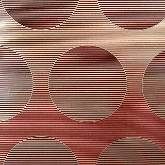 Círculos Fondo de pantalla oro rojo metalizado rayas horizontales arlequín retro