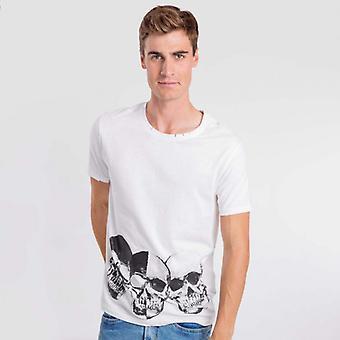 T-shirt bianca negativa