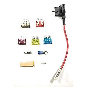 YUNIQUE Italia ® 1 Pezzo 12 / 24V ATO ATC Cavo Portafusibile Micro Blade Doppio con fusibili da 7.5A 10A 15A 20A 40A