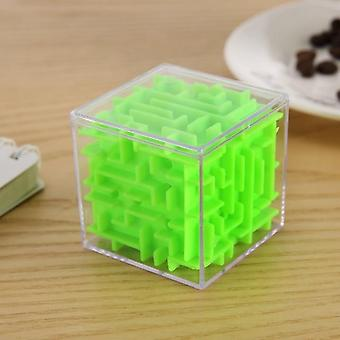 3d Maze Magic Speed Cube - Transparent Six Sided Puzzle Rolling Ball Game / Maze Toy