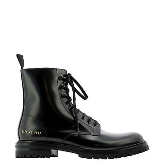 Common Projects 21717547 Men's Black Leather Enkellaarsjes