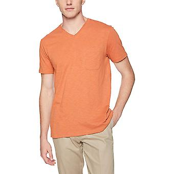 Goodthreads Men&s Lekki T-Shirt z dekoltem w serek, Rdza, Rozmiar Medium