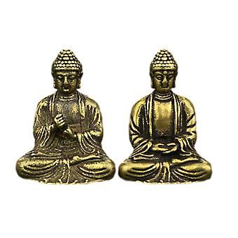 Mini Retro Brass Buddha - Zen Statue Pocket